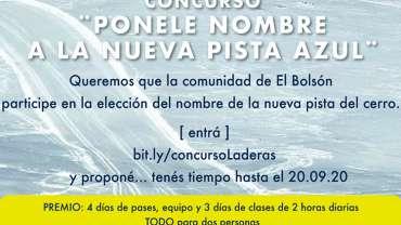 CONCURSO ¨PONELE NOMBRE A LA NUEVA PISTA AZUL!