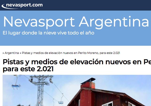Nevasport Argentina . El lugar donde la nieve vive todo el año!!